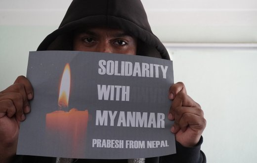 KURVE Wustrow Solidarity with Myanmar from Nepal